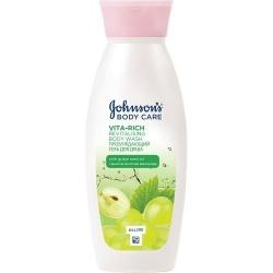 Фото Johnson & Johnson Care Vita-Rich Revitalishing Body Wash - Гель для душа с экстрактом Виноградной косточки, 250 мл
