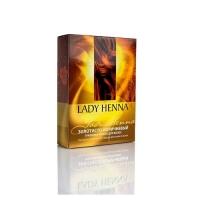 Lady Henna - Натуральная краска для волос Золотисто-коричневая, 100 мл