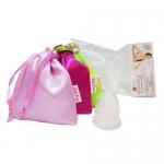 Фото LilaCup - Чаша менструальная Практик, в атласном мешочке, прозрачная, размер L, 1 шт