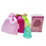 Фото LilaCup - Чаша менструальная Атлас Премиум, изумрудная, размер L, 1 шт