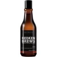 Redken Brews 3 in 1 - Средство 3 в 1 шампунь, кондиционер, гель для душа, 300 мл