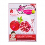 Фото Sun Smile Pure Smail Essence Mask Pomegranate - Маска для лица антивозрастная с экстрактом граната, 1 шт