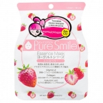 Фото Sun Smile Pure Smail Essence Mask - Маска для лица матирующая на йогуртовой основе c земляникой, 1 шт