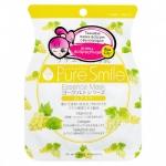 Фото Sun Smile Pure Smail Essence Mask - Маска для лица антивозрастная на йогуртовой основе c виноградом, 1 шт
