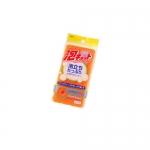 Фото Ohe - Губка для ванной трехслойная, верхний слой средней жесткости, оранжевая, 1 шт