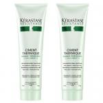 Фото Kerastase Resistance Lait Ciment Thermique - Набор Термо-активное восстанавливающее молочко для ослабленных волос, 2 шт х 150 мл