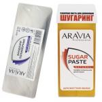 Фото Aravia Professional -  Бандаж для шугаринга полимерный, 70х175 мм, 30 шт + Паста сахарная для депиляции в картридже Натуральная, мягкой консистенции, 150 г