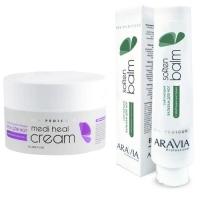 """Aravia Professional -  Регенерирующий крем от трещин с маслом лаванды """"Medi Heal Cream"""", 150 мл + Смягчающий бальзам для ног с эфирными маслами """"Soft Balm"""", 100 мл"""