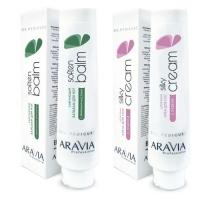 """Aravia Professional -  Смягчающий бальзам для ног с эфирными маслами """"Soft Balm"""", 100 мл + Шёлковый крем для ног с пудрой """"Silky Cream"""", 100 мл"""