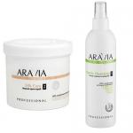 Фото Aravia Professional -  Organic Silk Care - Крем-скраб мягкий, 550 мл + Organic Gentle Cleansing - Лосьон мягкое очищение, 300 мл