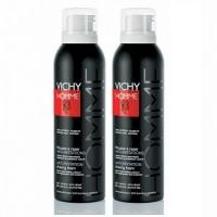 Vichy - Комплект: Пена для бритья для чувствительной кожи, склонной к покраснению 2 шт. по 200 мл, 1 шт