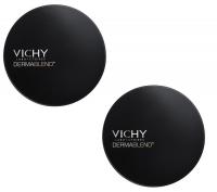 Vichy - Комплект: Дермабленд Пудра Тон 15, SPF 25, 2 шт. по 9,5 г, 1 шт