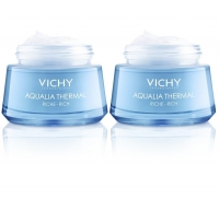 Vichy - Комплект: Аквалия Термаль Насыщенный крем для сухой и очень сухой кожи, 2 шт. по 50 мл, 1 шт