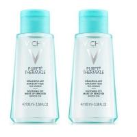 Vichy - Комплект: Лосьон для снятия макияжа с чувствительных глаз Пюрте Термаль, 2 шт. по 100 мл, 1 шт