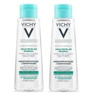 Vichy - Комплект: Мицеллярная вода с минералами для жирной и комбинированной кожи, 2 шт. по 200 мл, 1 шт