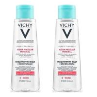 Vichy - Комплект: Мицеллярная вода с минералами для чувствительной кожи, 2 шт. по 200 мл, 1 шт