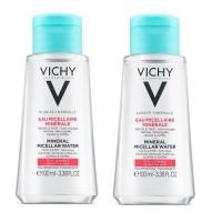 Vichy - Комплект: Мицеллярная вода с минералами для чувствительной кожи, 2 шт. по 100 мл, 1 шт