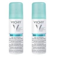 Vichy - Комплект: Дезодорант-антиперспирант 48ч спрей против белых и желтых пятен, 2 шт. по 125 мл, 1 шт