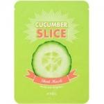 Фото Apieu Cucumber Slice Sheet - Маски-листочки, локальные, увлажняющие, с экстрактом огурца, 12 шт
