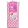 Aisen Aqua - Массажная мочалка жесткая, с хитозаном, розовая в клетку, 28х110 см