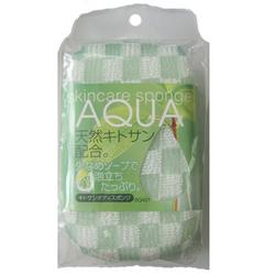 Фото Aisen Aqua - Мочалка-спонж с хитозаном, средней жесткости, зеленая