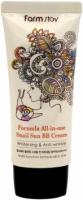 Купить FarmStay Formula All-In-One Snail Sun BB Cream SPF50+ - Крем многофункциональный с экстрактом улитки, 50 мл