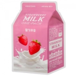Фото Apieu Strawberry Milk One-Pack - Молочная маска клубника, 21 г