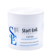 Aravia Professional - Start Epil Скраб против вросших волос с экстрактами морских водорослей, 300 мл