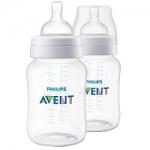 Фото Avent Classic+ - Бутылочка для кормления от 1 месяца, 260 мл, 2 шт.