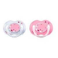 Купить Avent Philips Classic - Пустышка ночная силиконовая, для девочки, 0-6 мес, 2 шт