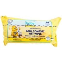 Babyline Baby Comfort Wet Wipes - Салфетки влажные Комфорт с алоэ вера и ромашкой, 80 шт