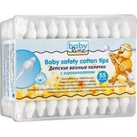 Babyline Baby Safety Cotton Tips - Ватные палочки детские с ограничителем, 55 шт