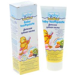 Фото Babyline Baby toothpaste - Зубная паста детская со вкусом жвачки Тутти-Фрутти, 75 мл