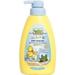 Фото Babyline - Гель для купания с мятой и солодкой для детей с первых дней жизни, 500 мл