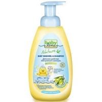 Babyline Nature - Средство для купания и шампунь с маслом оливы для детей с первых дней жизни, 500 мл