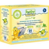 Babyline Nature - Таблетки для посудомоечных машин для всей семьи, 25 шт