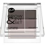 Фото Bell Brow And Eye Modelling Set - Набор для моделирования бровей и глаз, тон 03, коричневый, 25 гр