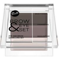 Bell Brow And Eye Modelling Set - Набор для моделирования бровей и глаз, тон 03, коричневый, 25 гр