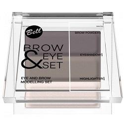 Фото Bell Brow And Eye Modelling Set - Набор для моделирования бровей и глаз, тон 01, 25 г