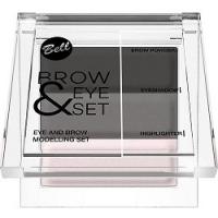 Bell Brow And Eye Modelling Set - Набор для моделирования бровей и глаз, тон 02, 25 г