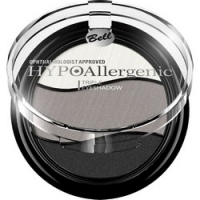 Bell Hypoallergenic Triple Eyeshadow - Тени для век трехцветные, тон 08, черный, серый, белый, 4 гр