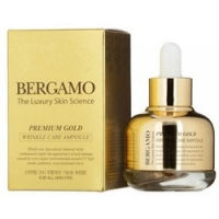 Bergamo Premium Gold Wrinkle Care Ampoule - Сыворотка с золотом от морщин, 30 мл