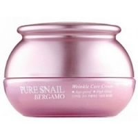 Bergamo Pure Snail Wrinkle Care Cream - Крем для лица с муцином улитки антивозрастной, 50 мл  - Купить