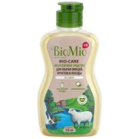 BioMio - Средство для мытья посуды (в том числе детской) Концентрат без запаха, 315 мл