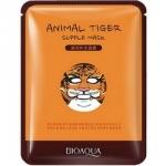 Фото Bioaqua Animal Face Tiger - Маска для лица питательная с экстрактом красного женьшеня, 30 г
