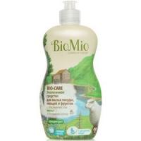 Купить BioMio - Средство для мытья посуды, овощей и фруктов маслом Мяты, 450 мл
