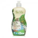 Фото BioMio - Средство для мытья посуды, овощей и фруктов с эфирным маслом Мандарина, 450 мл