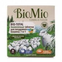 BioMio - Таблетки для посудомоечной машины с эфирным маслом Эвкалипта, 30 штук