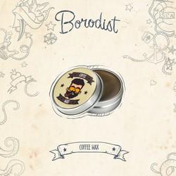Borodist Coffee Wax - Воск для усов, 13 г.