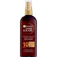 Garnier Ambre Solaire - Водостойкое солнцезащитное масло-спрей для загара  SPF 10, 150 мл